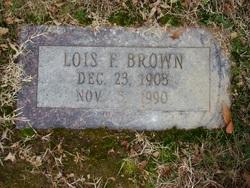 Lois M <I>Fields</I> Brown