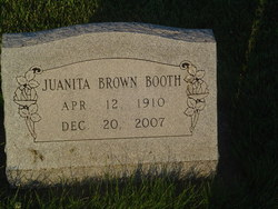 Juanita Laura <I>Brown</I> Booth