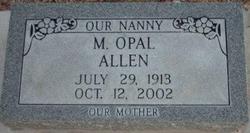 """M. Opal """"Nanny"""" Allen"""