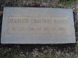 Jeanette <I>Chalfant</I> Hinton