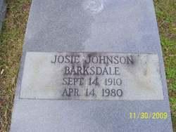 Josie <I>Johnson</I> Barksdale