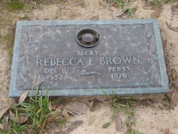 "Rebecca E ""Becky"" Brown"