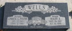 Carrol Christina <I>Fautin</I> Wells