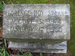 Florence Inez <I>Hoy</I> Speake
