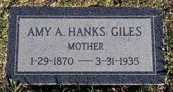 Amy Alicia <I>Hanks</I> Giles