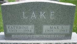 "Kathrine Jane ""Kitty"" <I>Lyon</I> Lake"