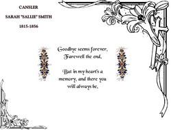 Sarah Sallie <I>Smith</I> Cansler