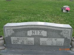 "Joseph W ""Joe"" Nix"