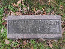 Alice <I>Hilton</I> Madsen