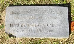 Edgar Crawford Fonde, Jr