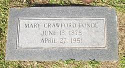 Mary <I>Crawford</I> Fonde
