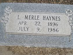 Lela Merle <I>Robinson</I> Haynes