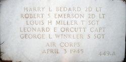 "2LT Robert S ""Bob"" Emerson"