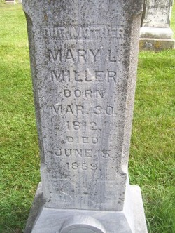Mary Louise <I>Mitchell</I> Miller