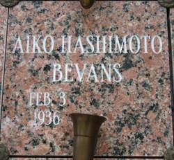 Aiko <I>Hashimoto</I> Bevans