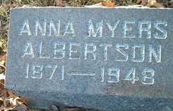 Anna <I>Myers</I> Albertson