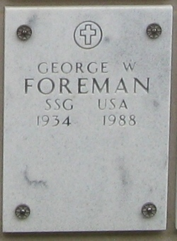 Sergeant George W Foreman