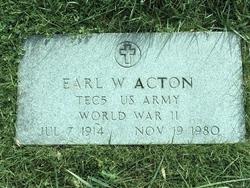 Earl W Acton
