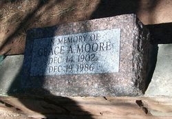 Grace A <I>Lockridge</I> Moore