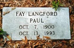 Fay <I>Langford</I> Paul