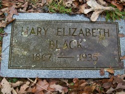 Mary Elizabeth <I>Elrod</I> Black