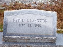 Myrtle Irene Langston