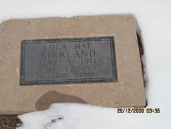 Lola Mae <I>Cook</I> Kirkland