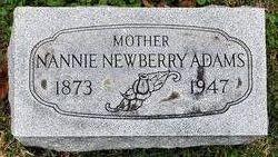 Annie <I>Newberry</I> Adams