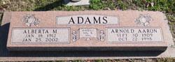 Alberta Maxine <I>Fisher</I> Adams
