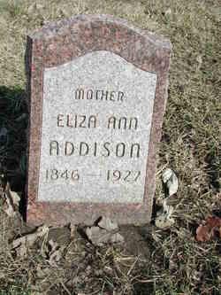 Eliza Ann <I>Hutto</I> Addison