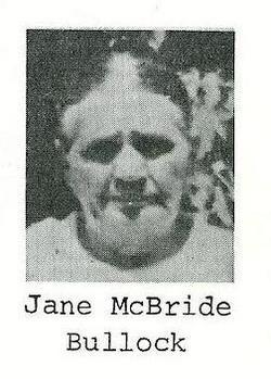 Jane <I>McBride</I> Bullock