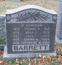 "Sabina M. ""Sheila"" <I>Folan</I> Barrett"