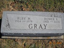 Ruby M <I>Franklin</I> Gray