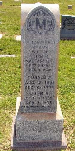 Elizabeth Jane <I>Adams</I> Macfarlane