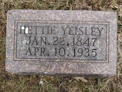 Hettie <I>Henney</I> Yeisley
