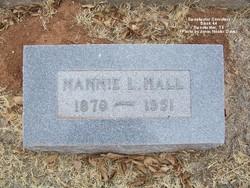 """Nancy Ida Lee """"Nannie"""" <I>Hopkins</I> Hall"""