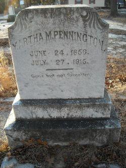 Martha M. <I>Baggett</I> Pennington