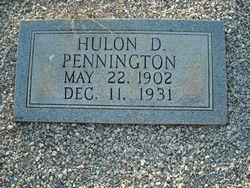 Hulon D Pennington