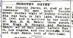 Dorothy <I>Eakin</I> Davey