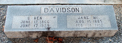 Jane S. <I>McClure</I> Davidson