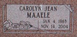 Carolyn Jean <I>Tipton</I> Maaele