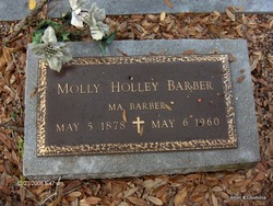 "Gatsy Ann Mariah ""Molly"" <I>Holley</I> Barber"