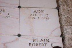 Alice Phoebe <I>Connelly</I> Ade