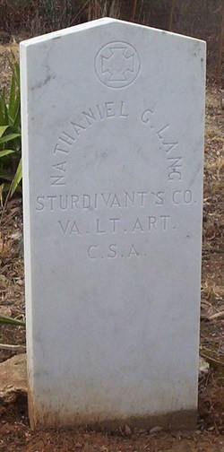 Pvt Nathaniel Greene Lang