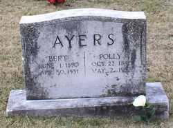"""Mary """"Polly"""" <I>Hensley</I> Ayers"""