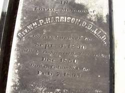 Rev William Pope Harrison