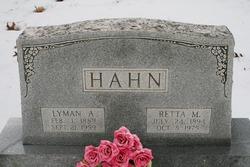 Retta Mae <I>Hahs</I> Hahn