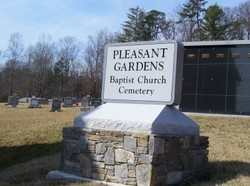 Pleasant Gardens Baptist Church Cemetery In Marion North