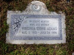 Virginia <I>Stone</I> Adams