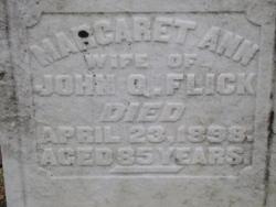 Margaret Ann <I>Henry</I> Flick